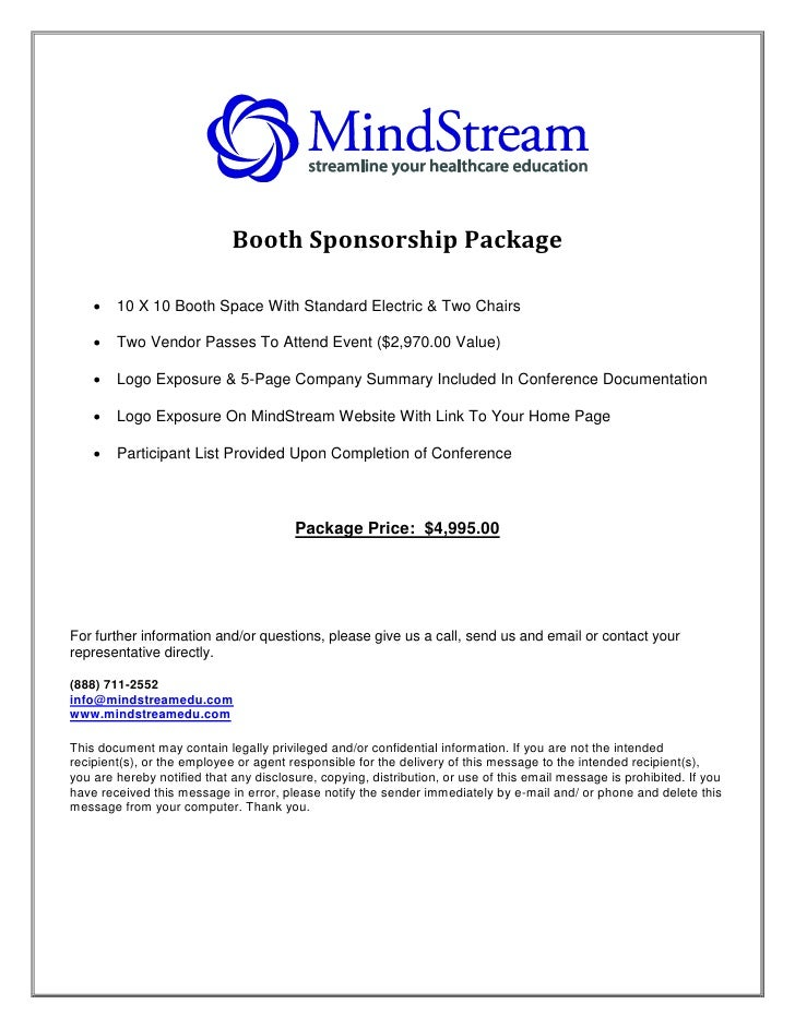 Booth Sponsorship Package