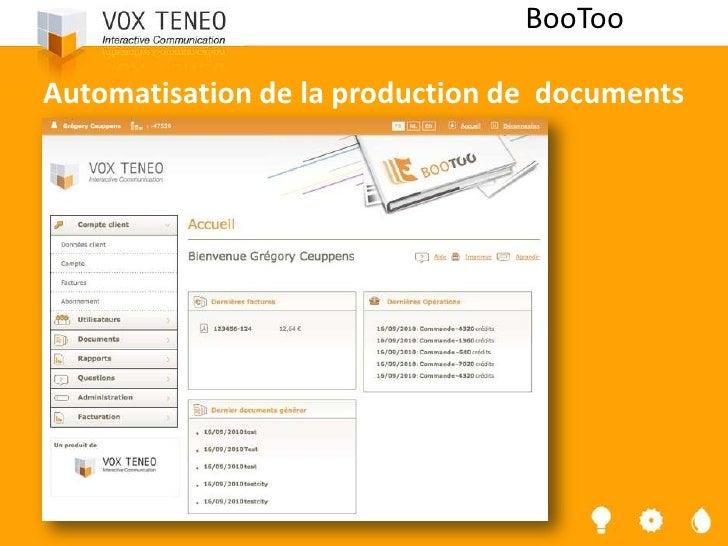 BooTooAutomatisation de la production de documents