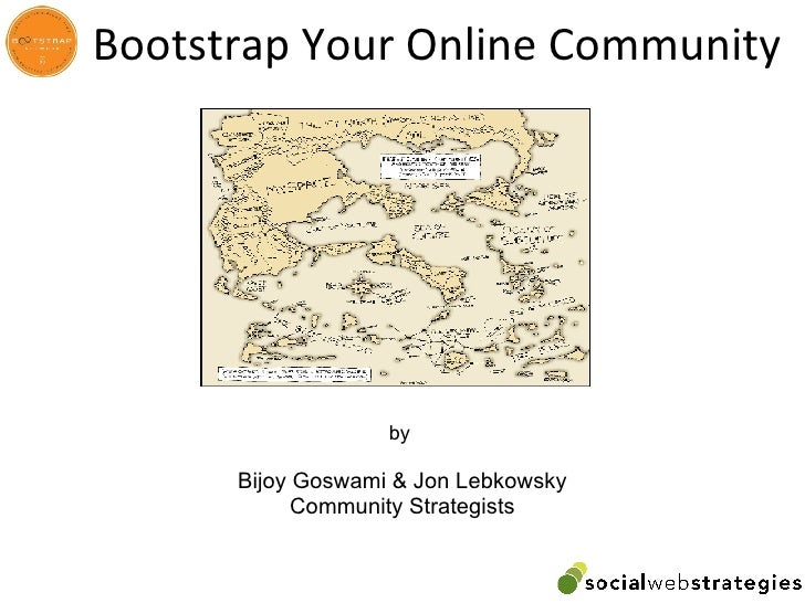 Bootstrap Your Online Community  11 08 2008
