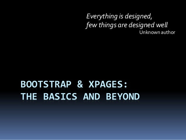 Bootstrap and XPages (DanNotes 2013)
