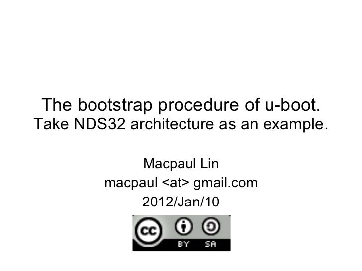 Bootstrap process of u boot (NDS32 RISC CPU)