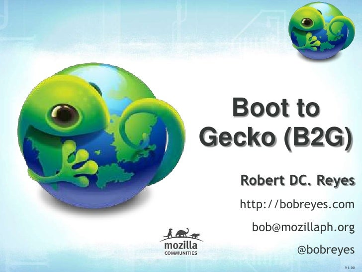 Mozilla's Boot to Gecko (B2G)