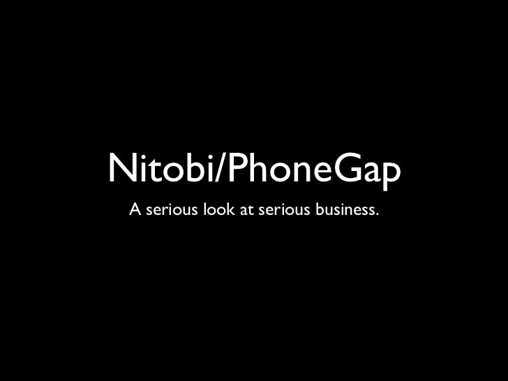 Nitobi/PhoneGap at Bootup 2011