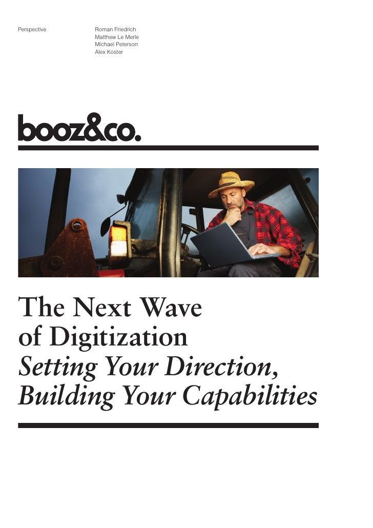 Booz Co Next Wave Of Digitization