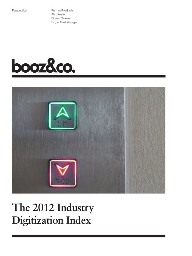 The 2012 Industry Digitization Index
