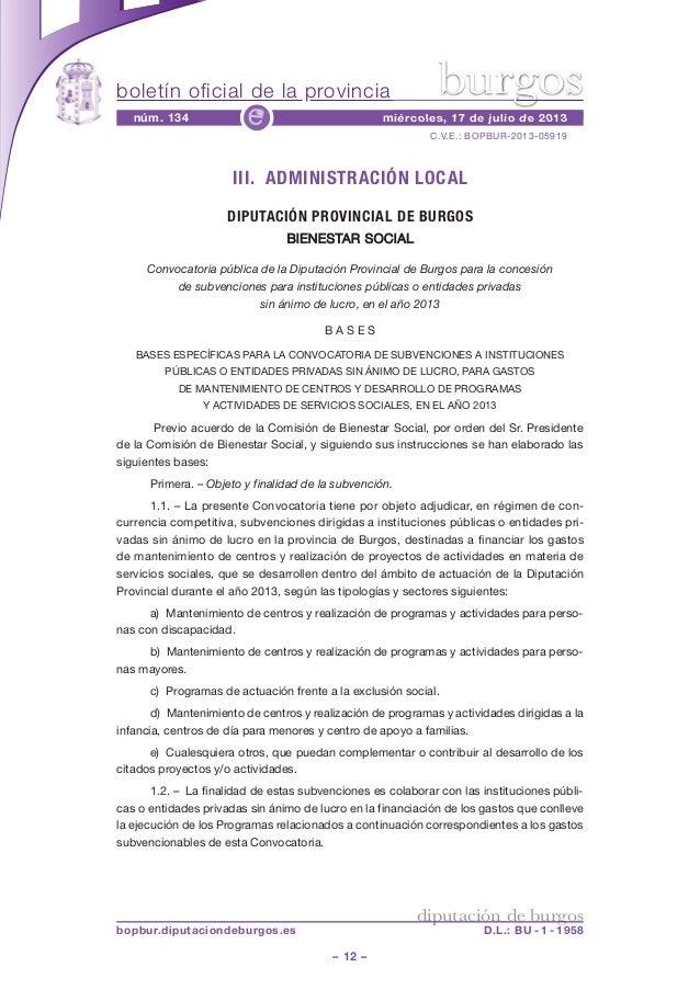 boletín oficial de la provincia – 12 – C.V.E.: BOPBUR-2013-05919 núm. 134 miércoles, 17 de julio de 2013e diputación de bu...