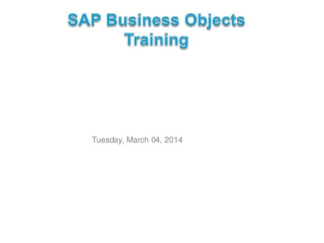 SAP Business Objects Trianing