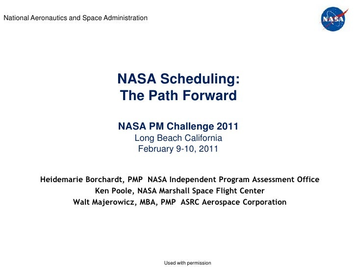 National Aeronautics and Space Administration                                   NASA Scheduling:                          ...