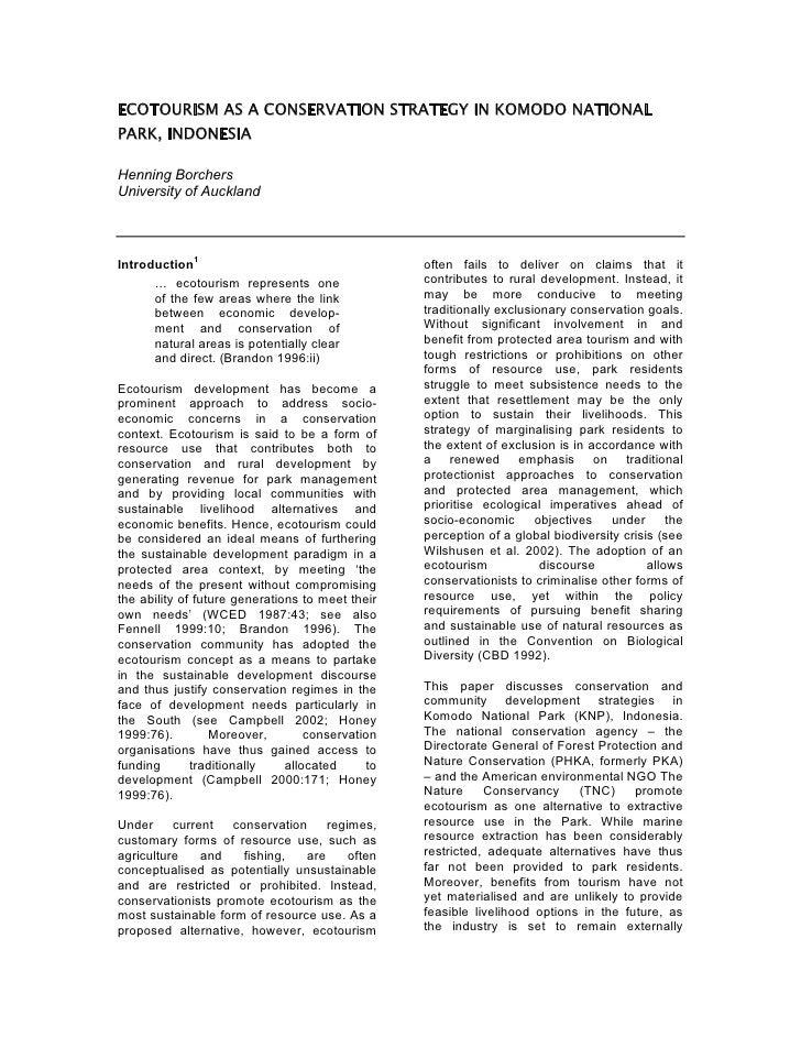 Essay About Ecotourism