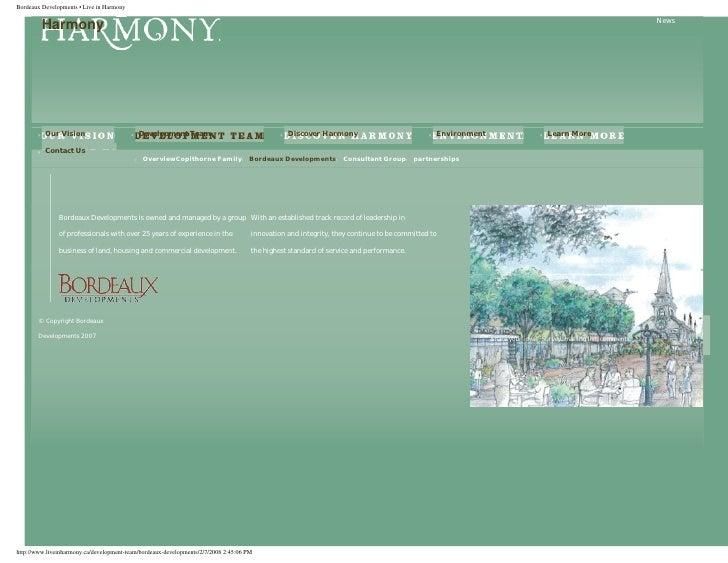 Bordeaux Developments • Live in Harmony                                                                                   ...