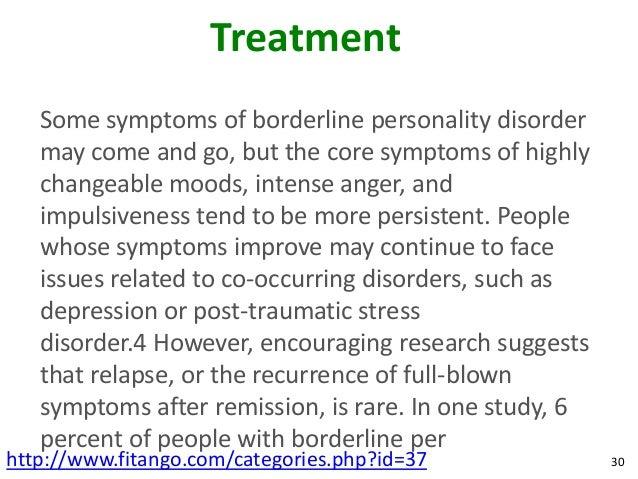 borderline personality disorder symptoms mayo