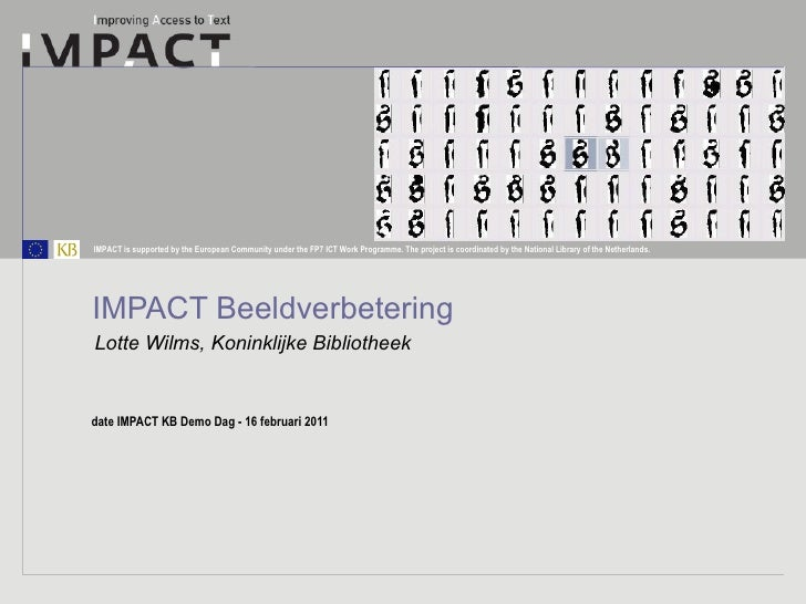 IMPACT Beeldverbetering Lotte Wilms, Koninklijke Bibliotheek
