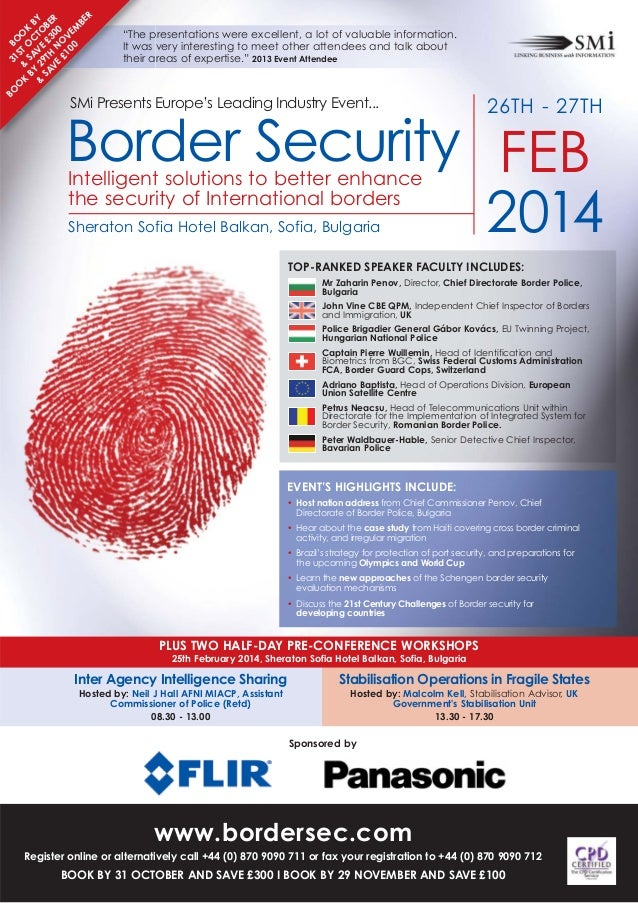SMi Group's Border Security 2014 conference & exhibition