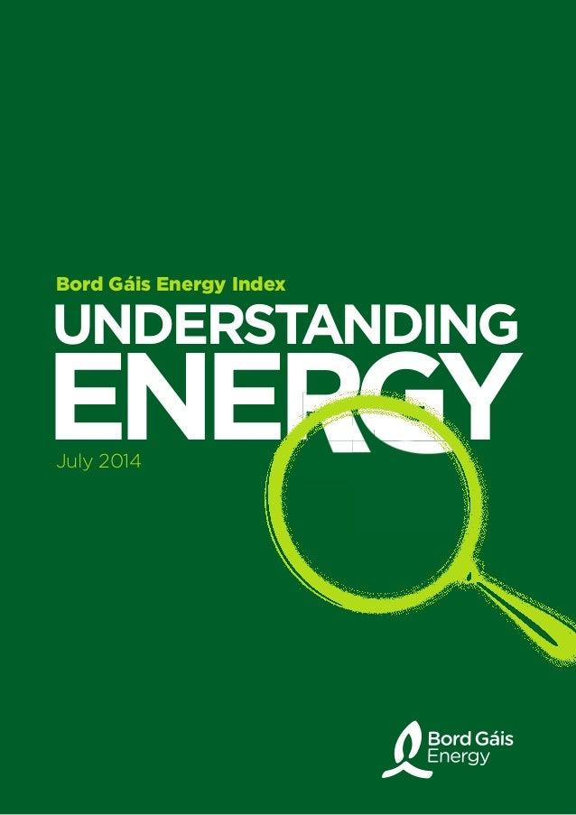 UNDERSTANDING ENERGYENERGYENERGYENERGY Bord Gáis Energy Index July 2014