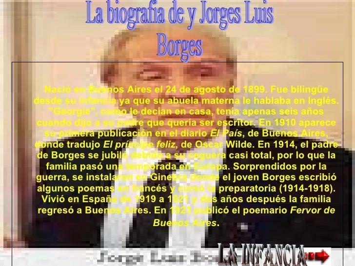 <ul><ul><li>Nació en Buenos Aires el 24 de agosto de 1899. Fue bilingüe desde su infancia ya que su abuela materna le habl...