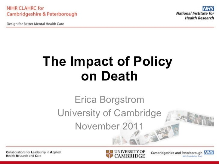The Impact of Policy on Death by Erica Borgstrom