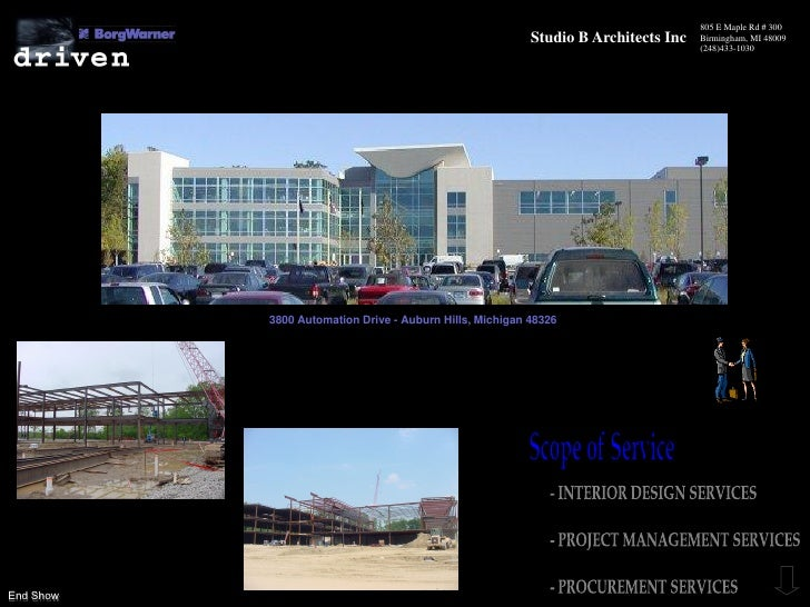 805 E Maple Rd # 300                                                          Studio B Architects Inc   Birmingham, MI 480...