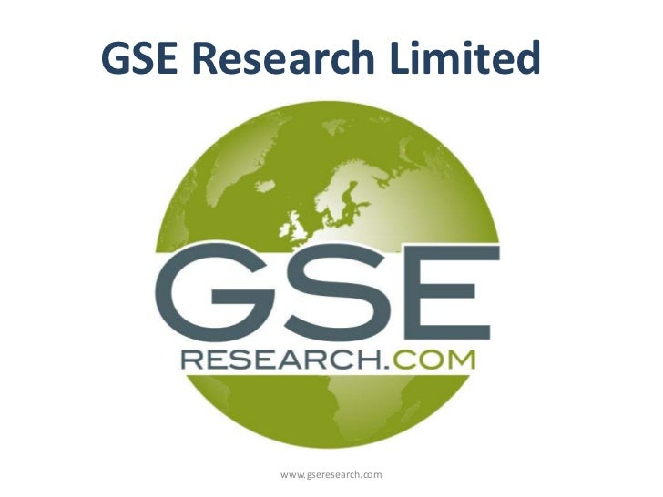 GSE Research Limited        www.gseresearch.com