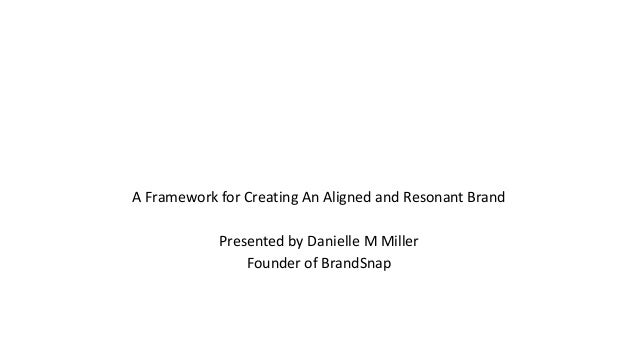 A Framework for Creating An Aligned and Resonant Brand Presented by Danielle M Miller Founder of BrandSnap