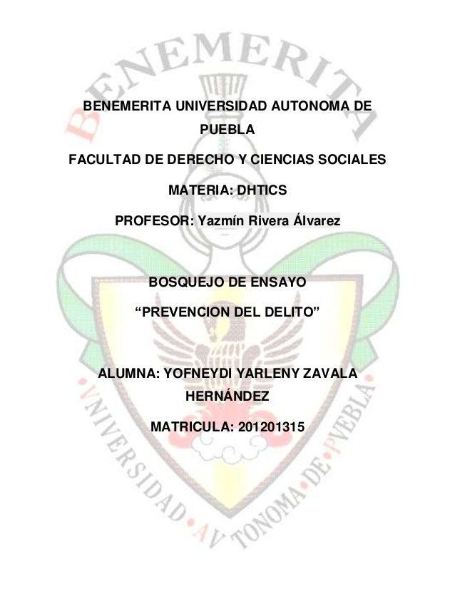 BENEMERITA UNIVERSIDAD AUTONOMA DE                PUEBLAFACULTAD DE DERECHO Y CIENCIAS SOCIALES            MATERIA: DHTICS...