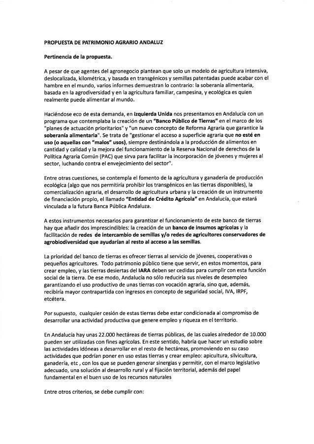 Borrador de Patrimonio Agrario Andaluz