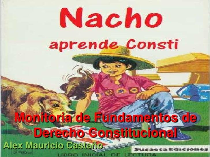 Monitoria de Fundamentos de    Derecho ConstitucionalAlex Mauricio Castaño