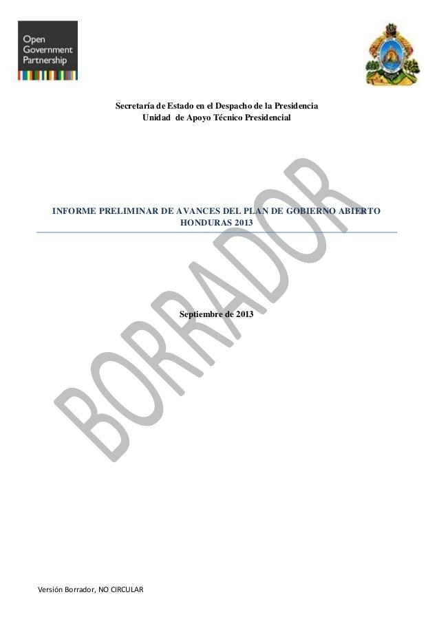 Borrador primer informe plan de gobierno abierto  revisado