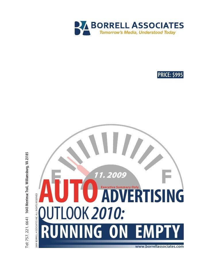 Borrell Auto Advertising Executive Summary Nov2009[1]