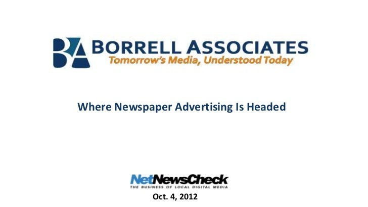 Where Newspaper Advertising Is Headed             Oct. 4, 2012
