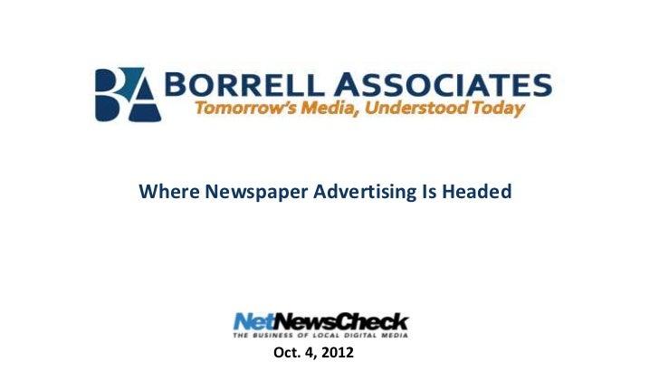 Newspaper advertising forecast for 2013