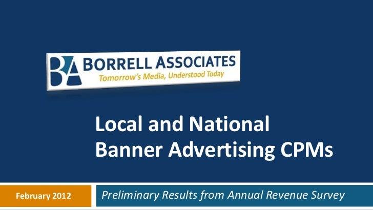Local Banner CPM Survey from Borrell Associates