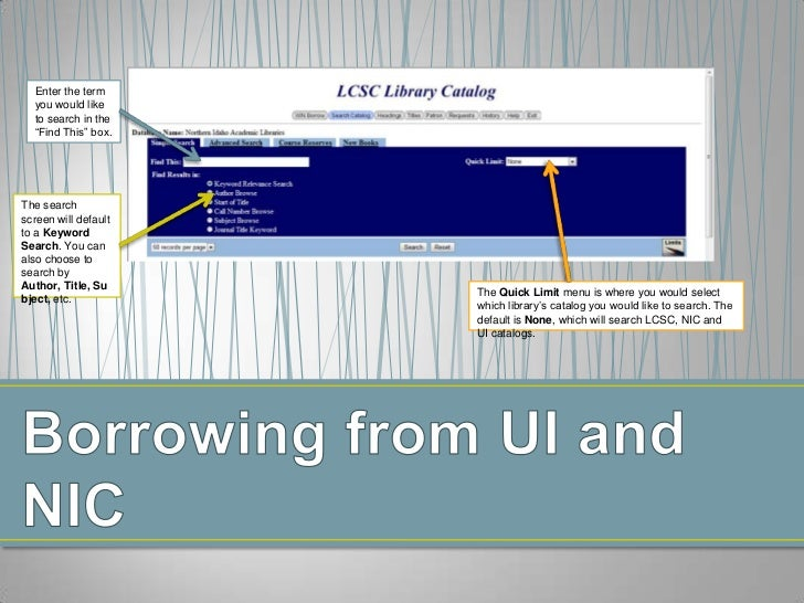 Borrowing from UI and NIC