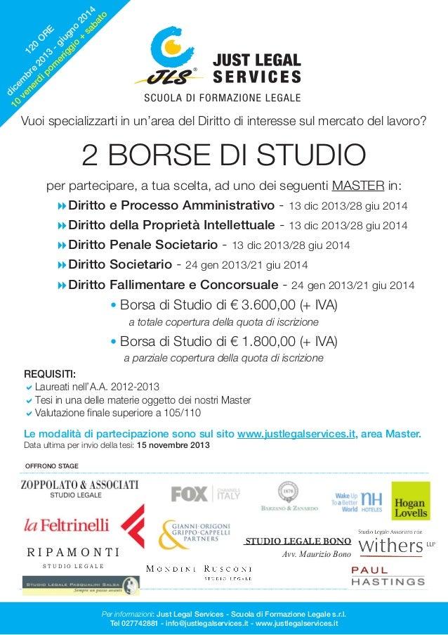Borse di Studio per Avvocati - Master in Diritto 2013/2014