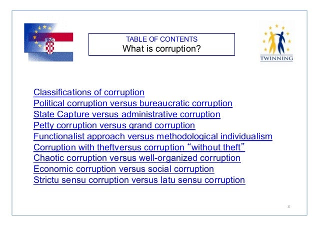 essay on politics and corruption