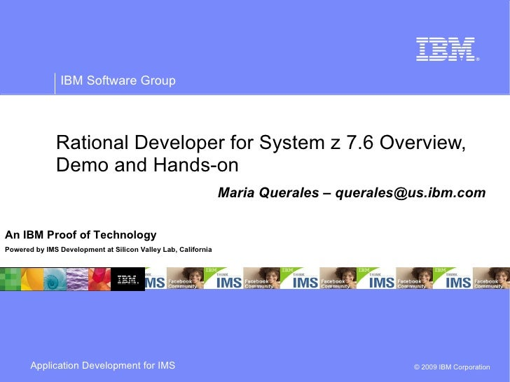 Application Development with Rational Developer for z 7.6