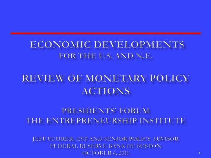 Economic Update Boston 2011