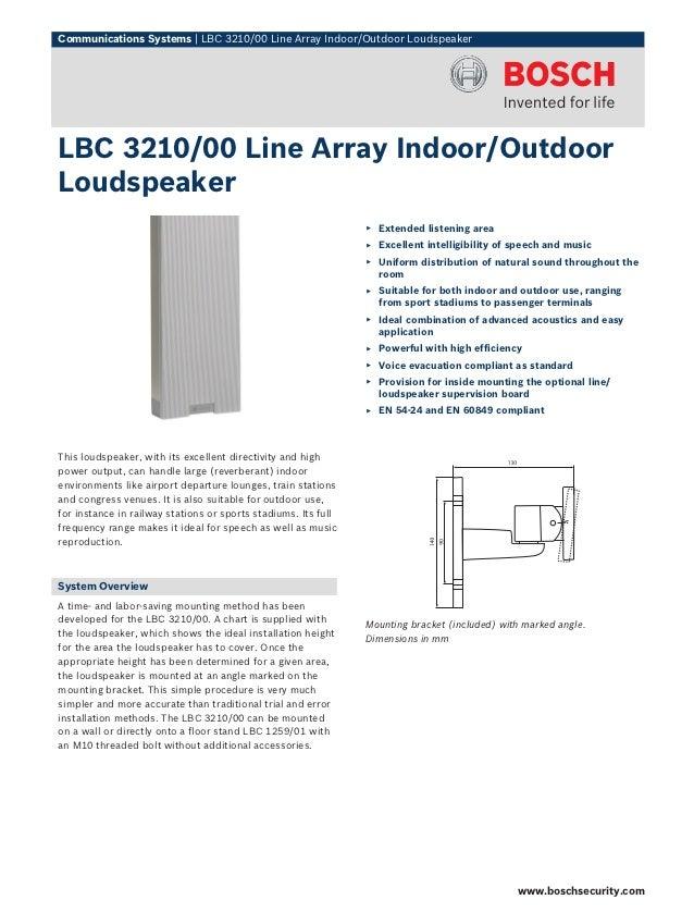Bosch lbc3210-00