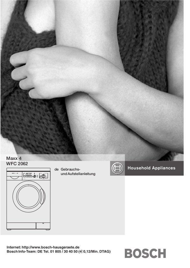 Maxx 4 WFC 2062 de GebrauchsĆ und Aufstellanleitung