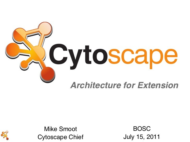 Architecture for Extension  Mike Smoot              BOSCCytoscape Chief       July 15, 2011