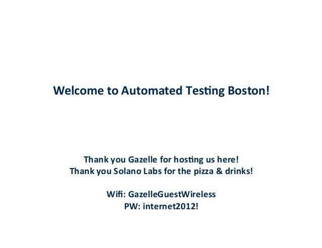 Boston MeetUp 10.10