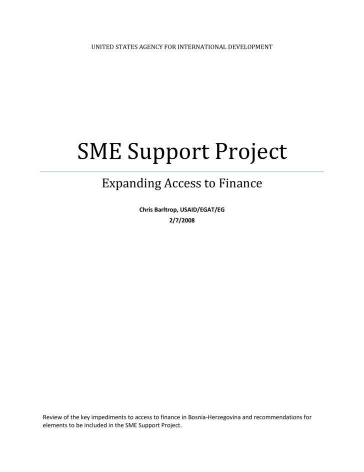 UNITEDSTATESAGENCYFORINTERNATIONALDEVELOPMENT                 SMESupportProject                      ExpandingAc...