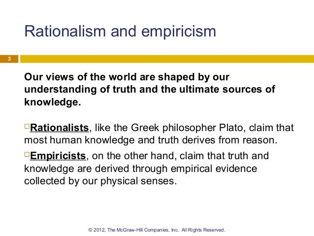 strengths and weaknesses of empiricism and rationalism