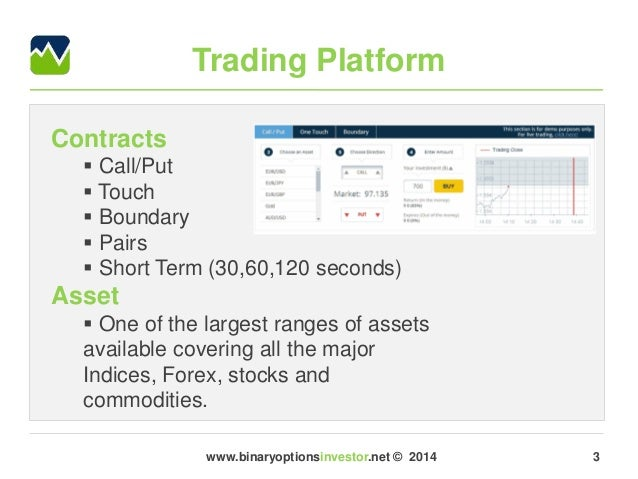Type of binary options account according to initial deposits