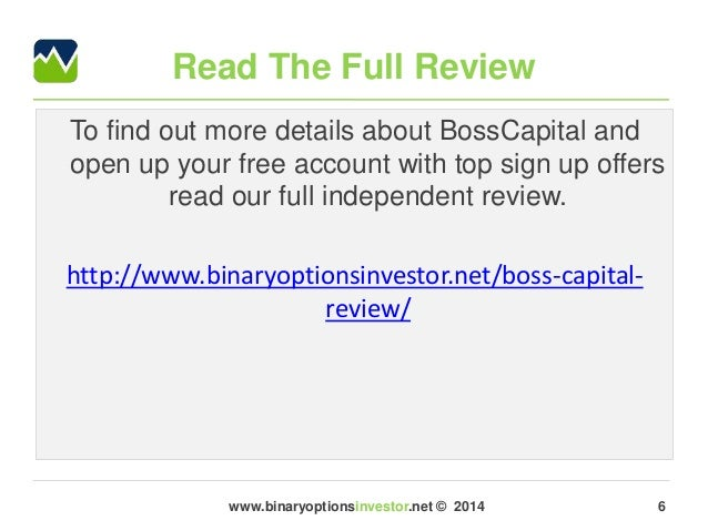 Boss capital binary options review