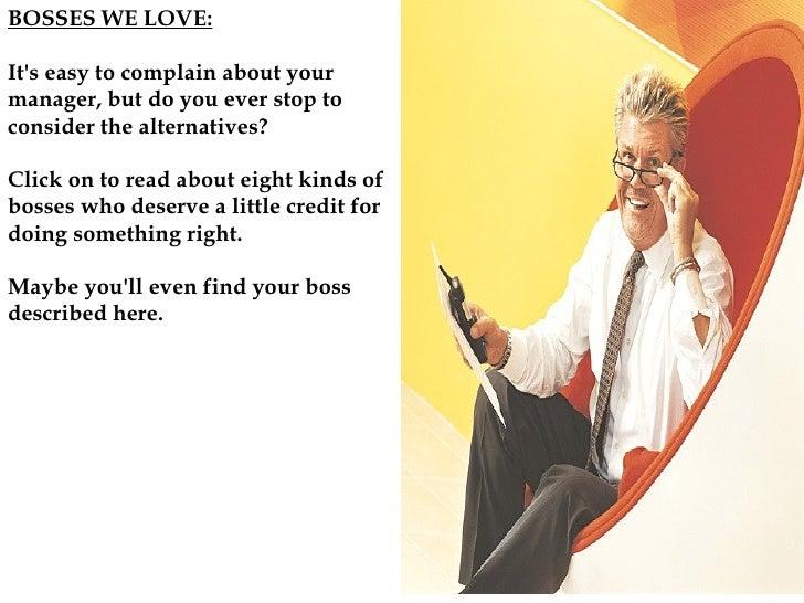Bosses we love