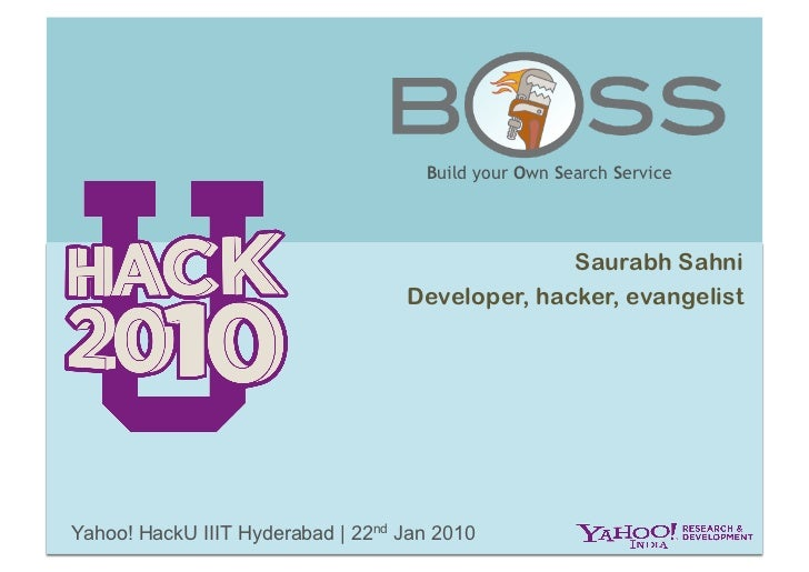 BOSS: Yahoo HackU IIIT Hyderabad