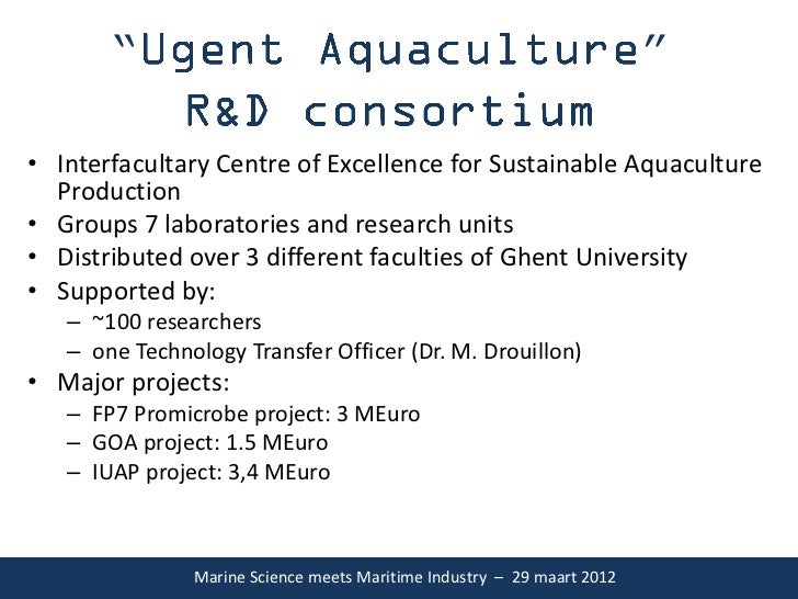 "Prof. Peter Bossier ""Marine Science meets Maritime Industry"""