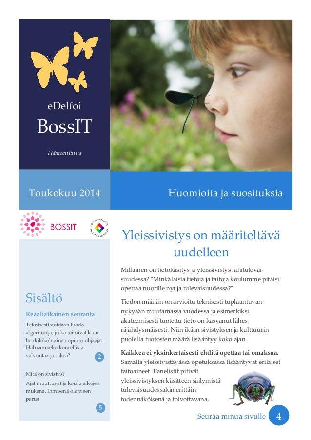 BossIT Hämeenlinna: suosituksia TVT-johtamiseen kouluissa