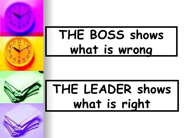 Leader Boss Image Boss vs Leader