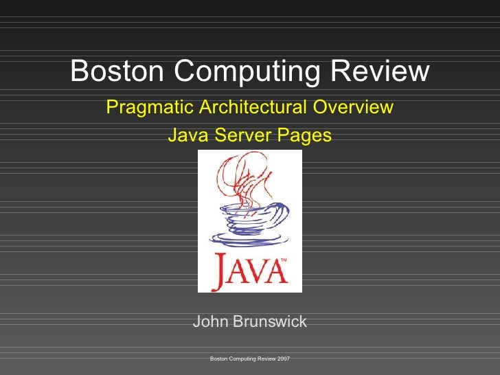 Boston Computing Review - Java Server Pages
